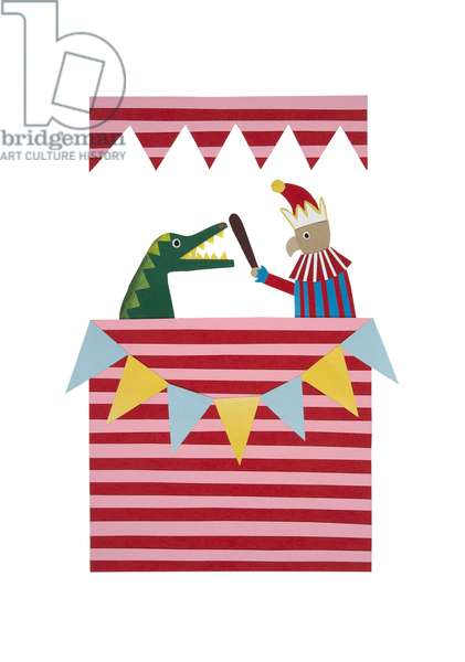 Punch and Judy, 2014, (cut paper)