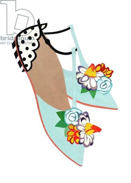 Summer Sandals, 2014, (cut paper)