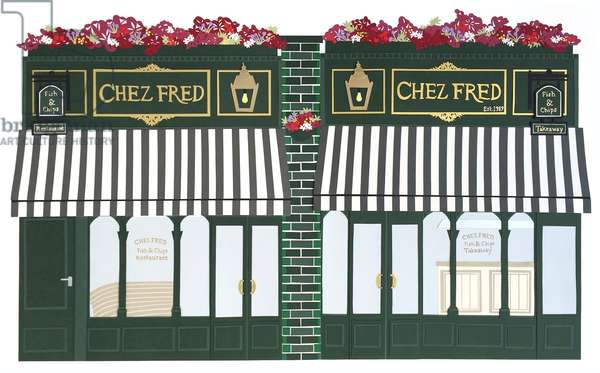 Chez Fred, 2016, paper