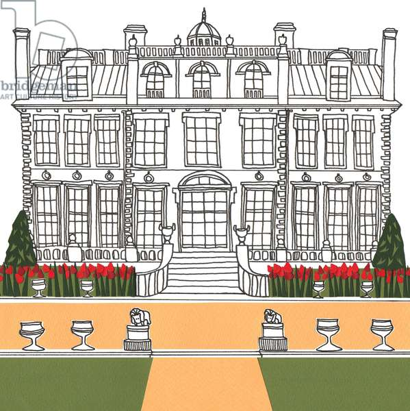 Kingston Lacy, 2014, (cut paper and pen)