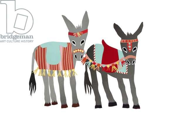 Donkeys, 2014, (cut paper)