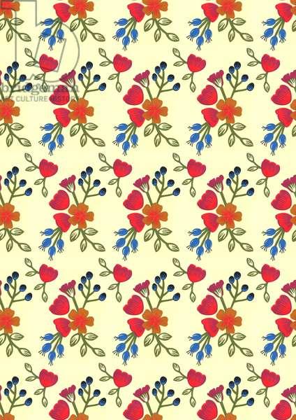Flora print, 2015, (cut paper)