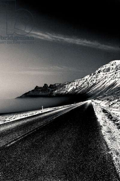 Coastal Road at Twilight, from the series In A Way, 2012 (photograph)