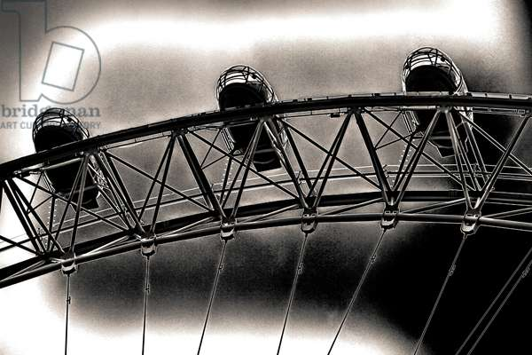 Three Pods, from the series, The London Eye, 2012, (repainted photograph)