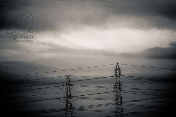 Pylons at Dawn, from the series, Industry on the River Thames, 2013, (photograph)