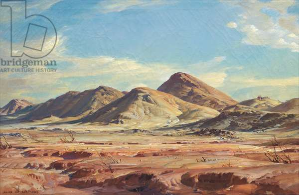 Foothills of the Flinders, 1929 (oil on canvas)