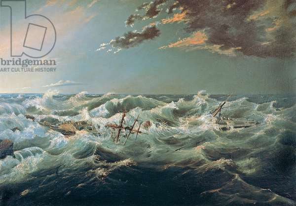 The Admella wrecked, Cape Banks, 6th August, 1859 (oil on canvas)