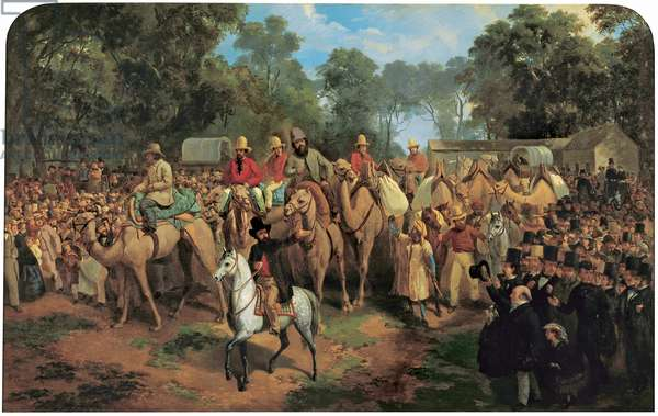 Memorandum of the Start of the Exploring Expedition, 1860 (oil on canvas)