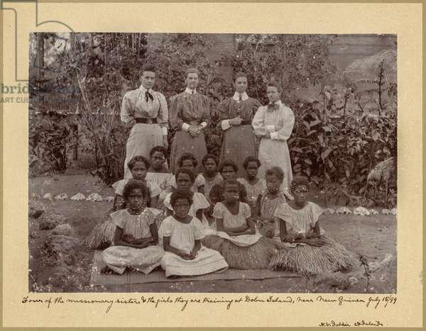 Missionaries and Islanders, Dobu Island, Papua New Guinea, 1899 (gelatin silver print)
