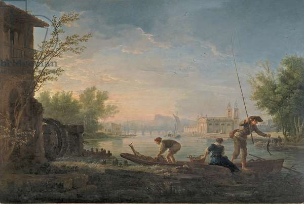 The Four Times of the Day: Morning, 1757 (oil on silvered copper)