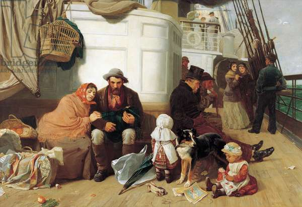 The immigrants' ship, 1884 (oil on canvas)