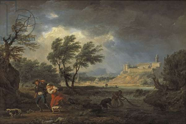 The Four Times of the Day: Midday, 1757 (oil on silvered copper)