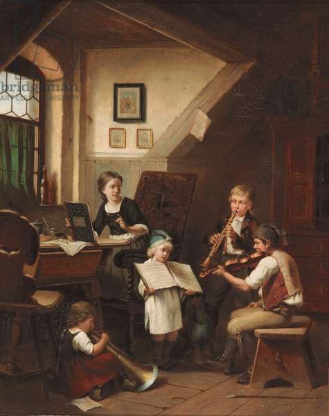 Children's concert, c.1881 (oil on canvas)