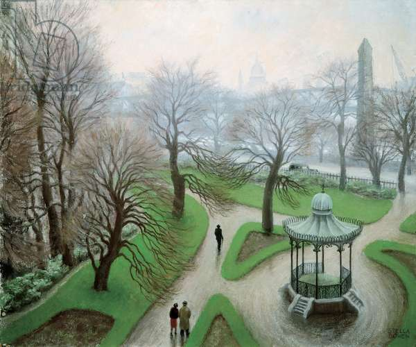 Embankment Gardens, c.1938 (oil on composition board)