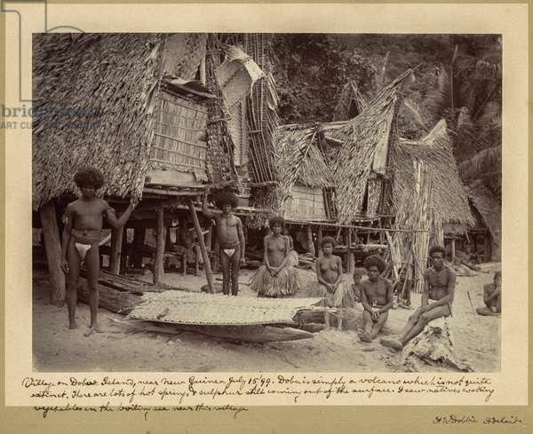 Village on Dobu Island, Papua New Guinea, 1899 (gelatin silver print)