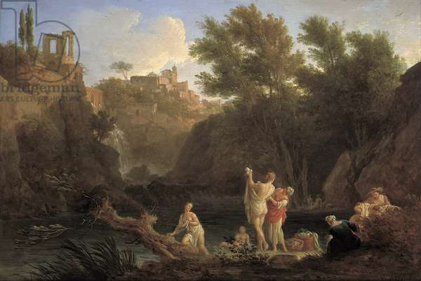 The Four Times of the Day: Evening, 1757 (oil on silvered copper)