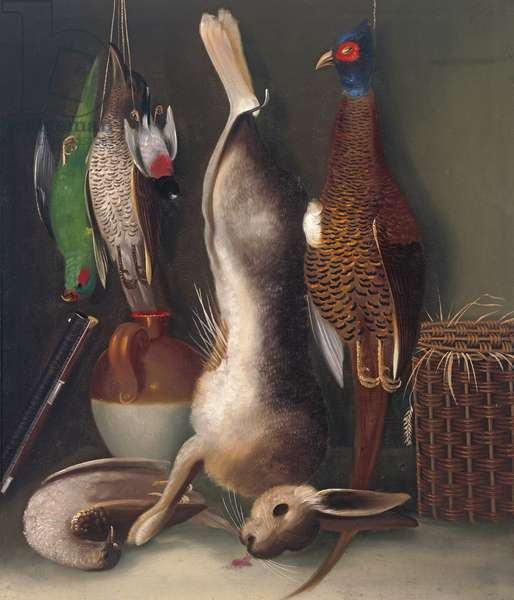 Still life with game, c.1840 (oil on canvas)