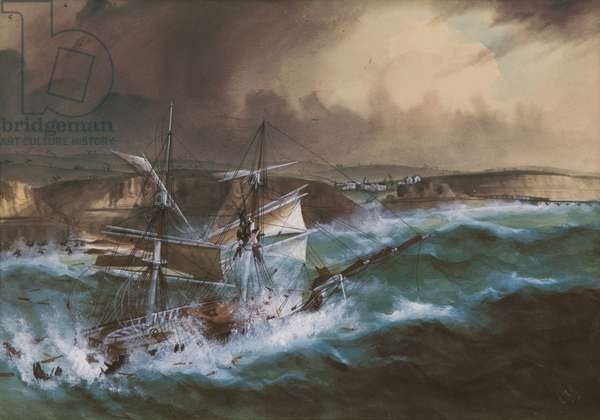 Wreck of the 'Star of Greece', c.1888 (w/c on paper)