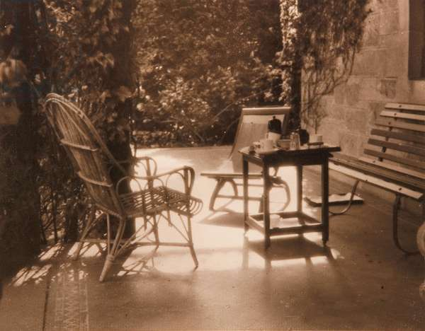 The guests have departed, c.1926 (toned silver-gelatin photo)