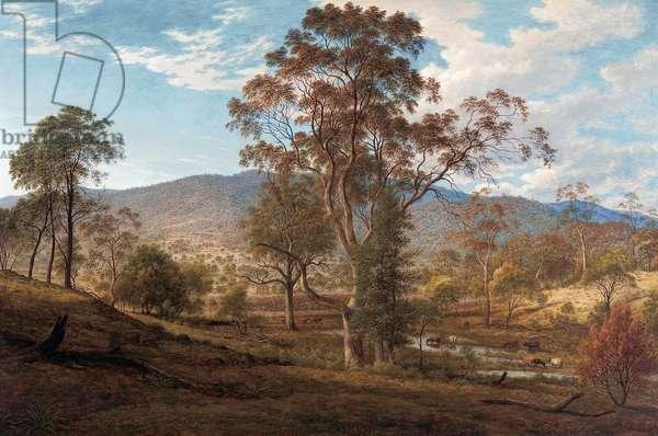 View of Mills Plains, Van Diemen's Land, 1833 (oil on canvas)