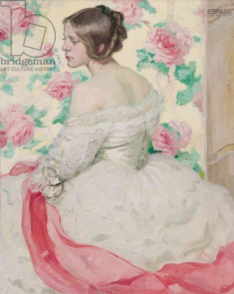 The Pink Scarf, 1913 (oil on canvas)