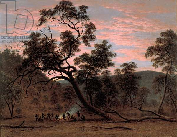 A Corrobery of Natives in Mill's Plains, 1832 (oil on canvas)