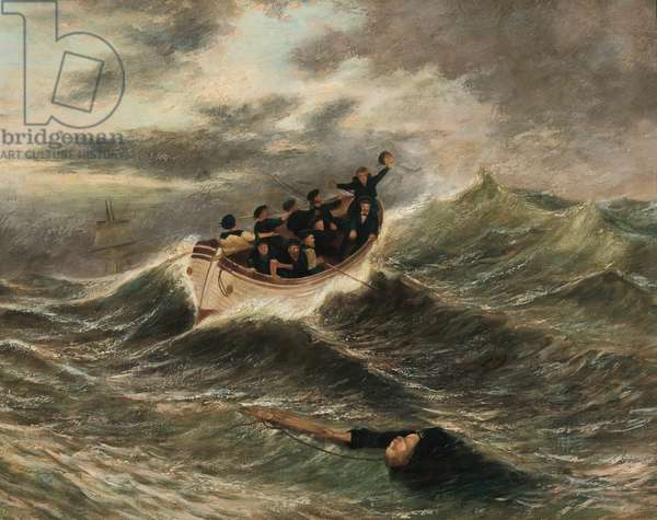The Rescue, c.1860 (oil on canvas)