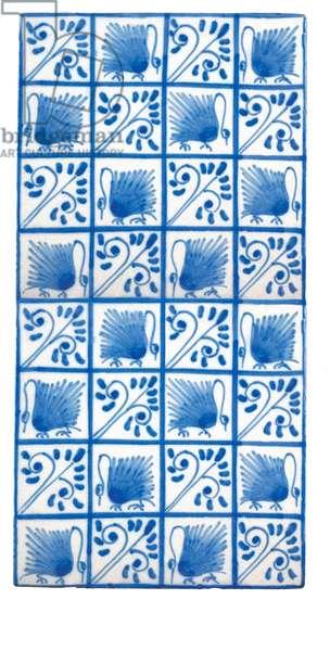 Swan tile, c.1880 (earthenware)