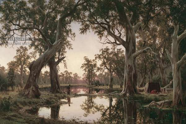 Evening Shadows, Backwater of the Murray, South Australia, 1880 (oil on canvas)