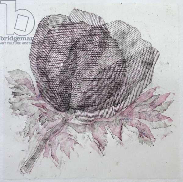 Purple Thread, 2019 (monoprint)