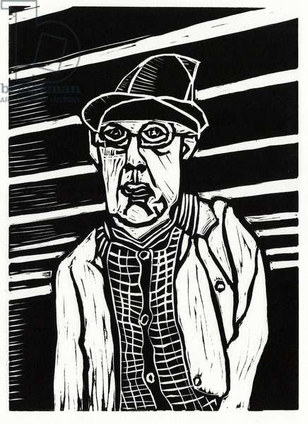 Southwark Man, 2013 (linocut)