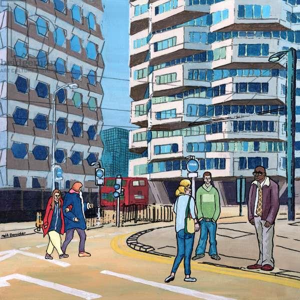 East Croydon, 2016 (mixed media on panel)