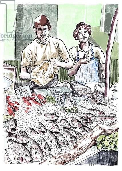 Borough Fish, 2013 (ink on paper)