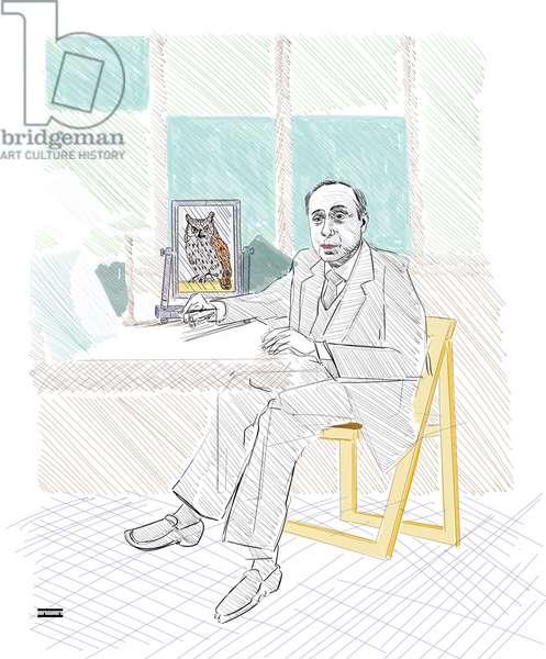 Leonardo Sciascia, Mirrors, 2021 (coloured ink on paper)