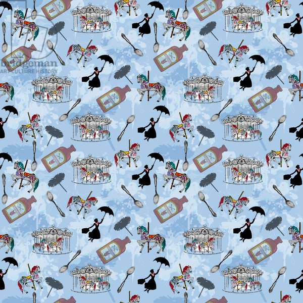 Mary Poppins, 2015, (Repeat pattern)