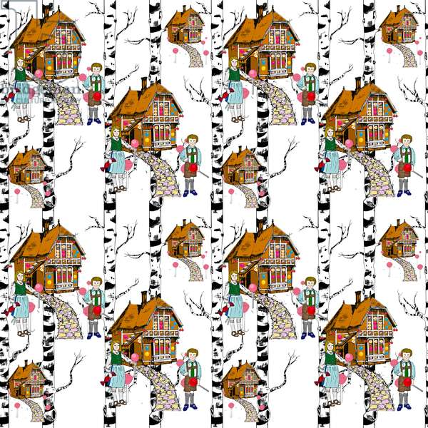 Hansel and Gretel, 2015, (Illustrative repeat pattern)