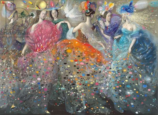 Dance of the Muses, 2009 (oil on Belgian linen)