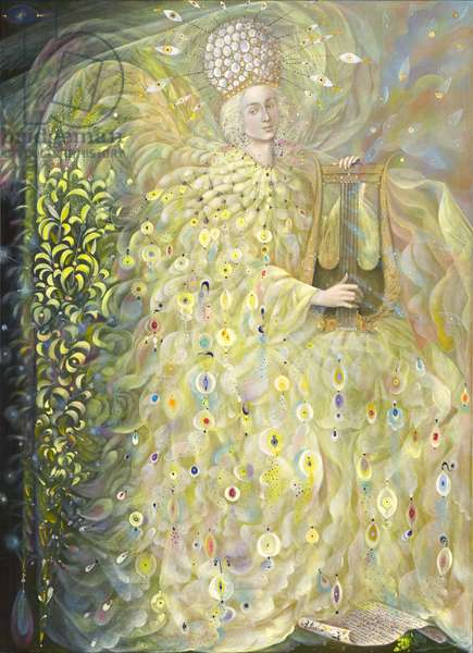 The Angel of Wisdom, 2009 (oil and gold leaf on Belgian linen)