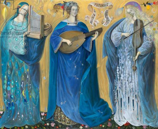Meditations on the Holy Trinity - after the music of Olivier Messiaen, 2007, (oil on Belgian linen)