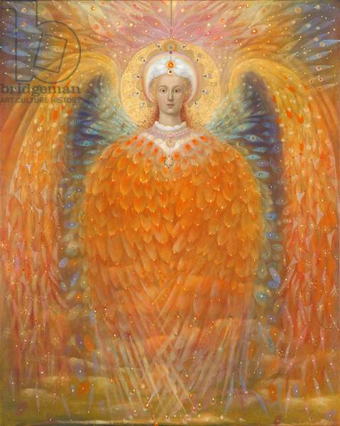The Angel of Justice, 2010 (oil and gold leaf on Belgian linen)