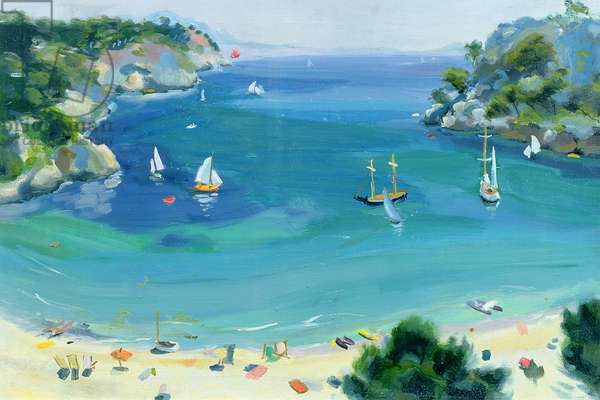 Cala Galdana, Minorca, 1979 (oil on canvas)