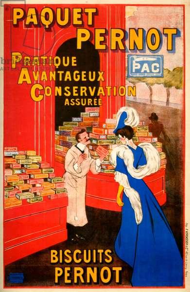 Paquet Pernot poster, 1912 (colour litho)