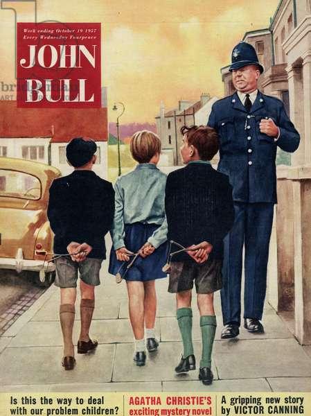 Front cover of 'John Bull', October 1957 (colour litho)