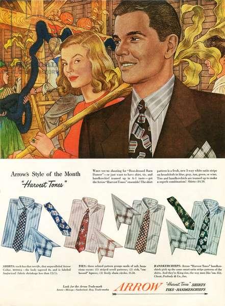 Arrow Magazine Advert, 1940s (colour litho)