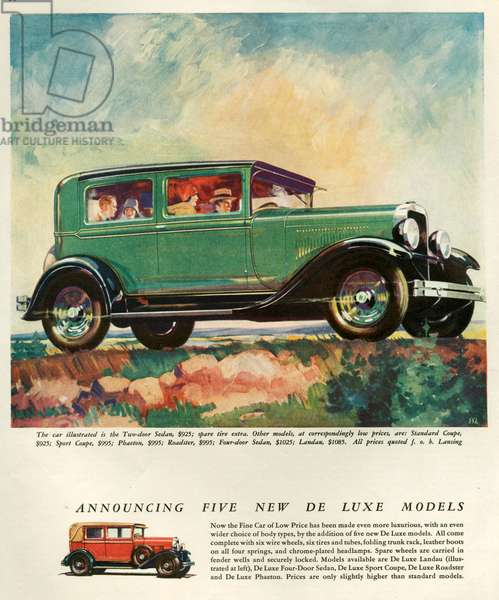 Lansing Magazine Advert, 1928 (colour litho)
