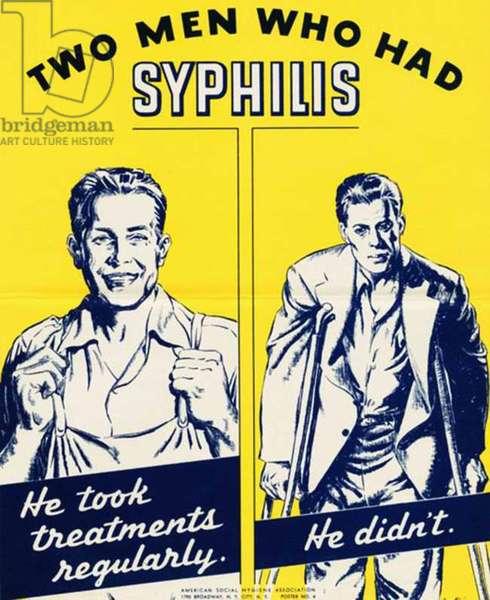 STDs Poster, 1940s (colour litho)