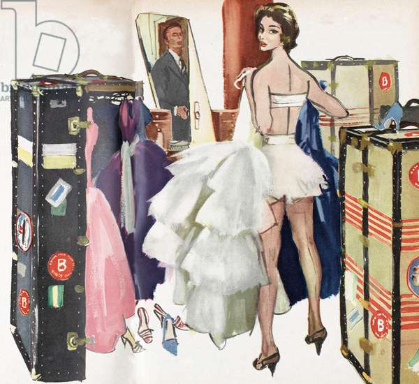 Illustration from 'Homes and Gardens' magazine, 1956 (colour litho)