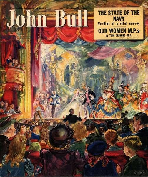 Front cover of 'John Bull', December 1949 (colour litho)