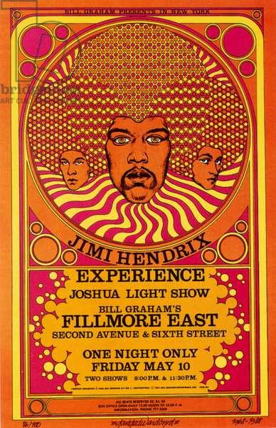 Jimi Hendrix poster, 1987 (colour litho)