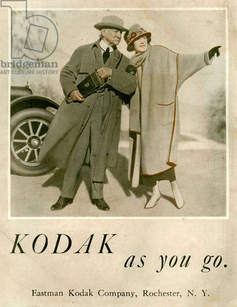 Kodak Magazine Advert, 1920s (colour litho)